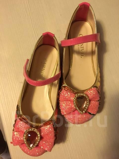 Продам красивые туфли на девочку. Рост: 110-116 см
