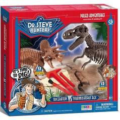 Динозавры Двойной набор для проведения раскопок Т-Рекс и Трицератопс. Под заказ