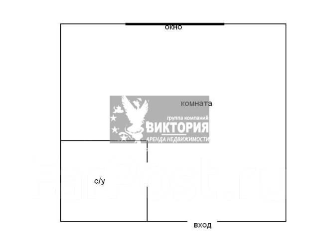 1-комнатная, проспект Океанский 105. Первая речка, агентство, 29 кв.м. План квартиры