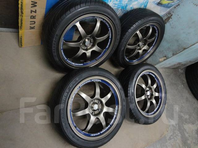 Продам Крутой Модный Спорт WEDS SA90+Лето Жир 215/45R17Toyota, Subaru. 7.5x17 5x100.00 ET45