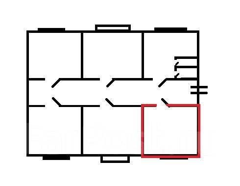 Комната, проспект 100-летия Владивостока 48. Столетие, проверенное агентство, 10 кв.м. План квартиры