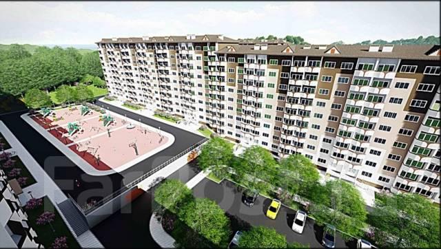 35 кв. м на 1ой линии -парковка- в новом микрорайоне на 15 000 жителей. Улица Нейбута 135, р-н 64, 71 микрорайоны, 35 кв.м. Дом снаружи