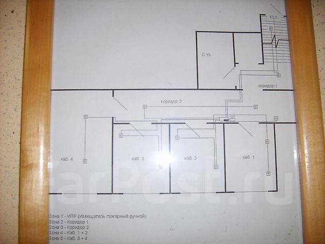 Сдам офис 4 комнаты, 2я речка. 65 кв.м., проспект 100-летия Владивостока 111, р-н Вторая речка. План помещения