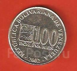 100 боливар 2002 г. Боливия.