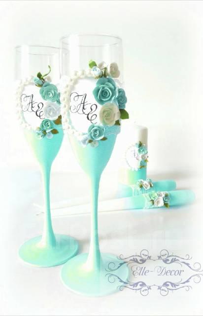 Бокалы свадебные. Под заказ