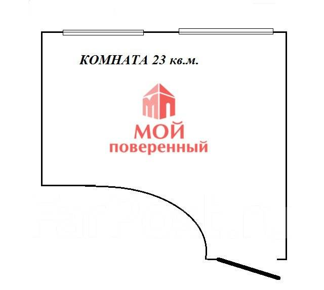 1-комнатная, улица Нестерова 7. Борисенко, агентство, 22 кв.м. План квартиры