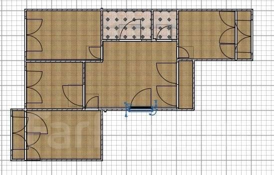 3-комнатная, улица Кипарисовая 6. Чуркин, агентство, 62 кв.м. План квартиры