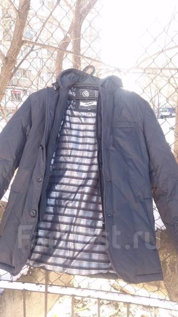Зимний пуховик (пиджак) с капюшоном. 52