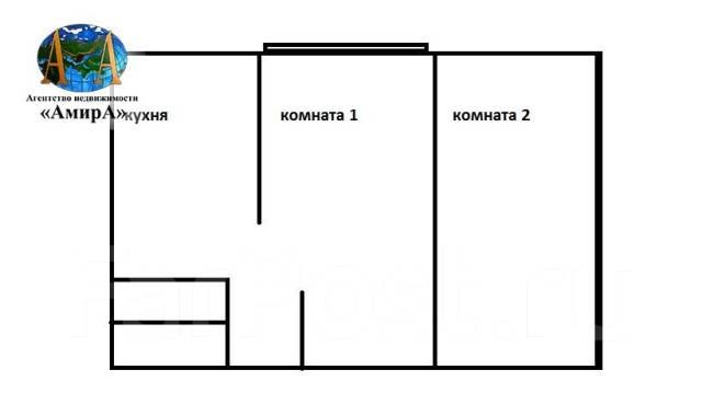 2-комнатная, переулок Некрасовский 5. Центр, агентство, 60 кв.м. План квартиры