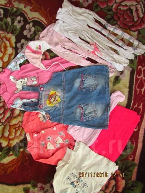 Продам пакет вещей для девочки с 6 месяцев. Рост: 74-80, 80-86, 86-98 см