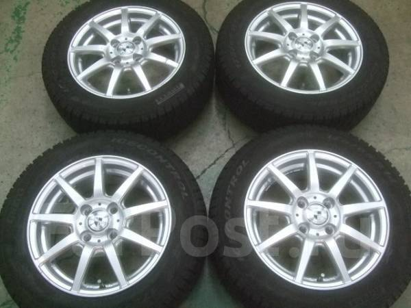 Литые диски Weds R14 с зимними шинами 175/65R14 92Q Pirelli Winter ICE. 5.5x14 4x100.00 ET45