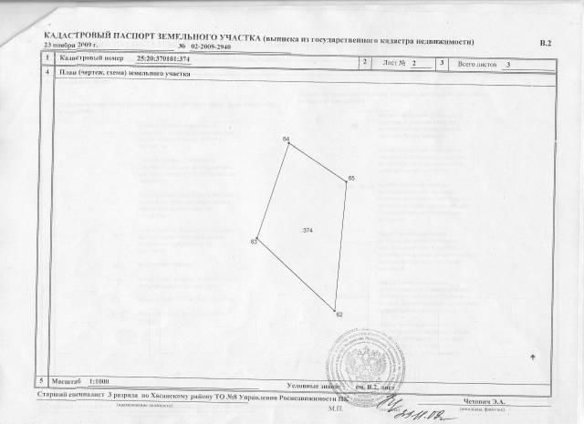 Продам земельный участок 22 сотки в с. Витязь Хасанского района. 2 200 кв.м., собственность, от частного лица (собственник). Схема участка