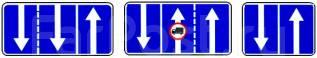 """Дорожный знак 5.15.7 """"Направление движения по полосам"""""""