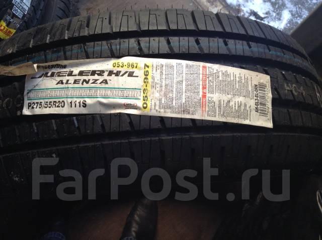 Bridgestone Dueler H/L Alenza. Всесезонные, 2010 год, без износа, 3 шт