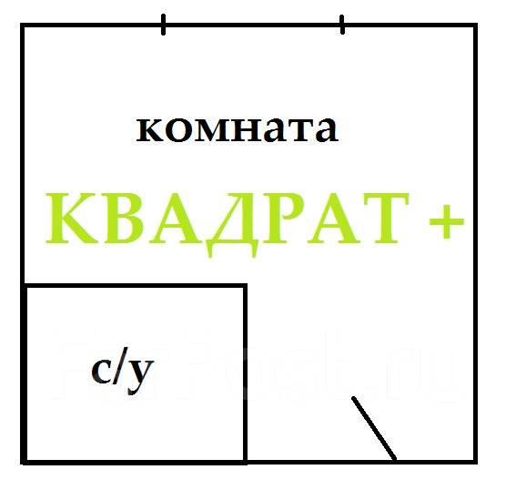Гостинка, проспект Красного Знамени 133/2. Третья рабочая, агентство, 24 кв.м. План квартиры