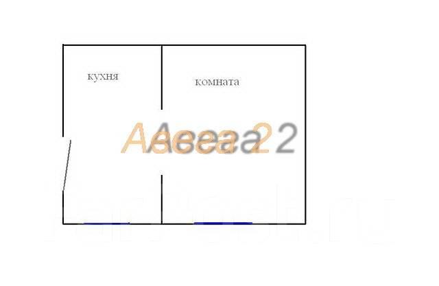 1-комнатная, улица Щитовая 33. Горностай, проверенное агентство, 28 кв.м. План квартиры