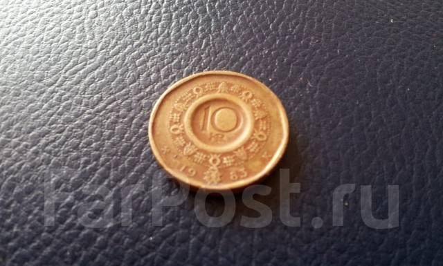 Норвегия. 10 крон 1983 года. Большая красивая монета!