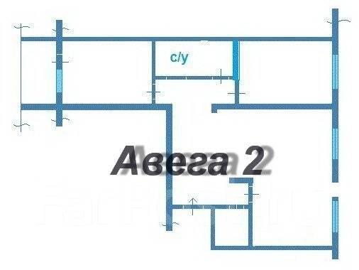 3-комнатная, улица Ладыгина 13. 64, 71 микрорайоны, проверенное агентство, 72 кв.м. План квартиры