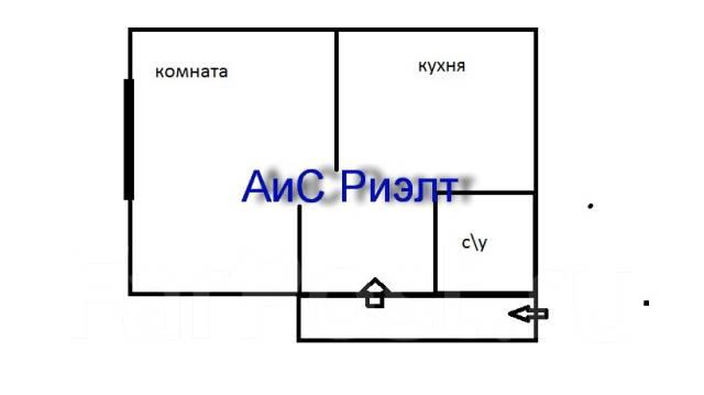 1-комнатная, улица Арсеньева 4а. Центр, агентство, 26 кв.м. План квартиры