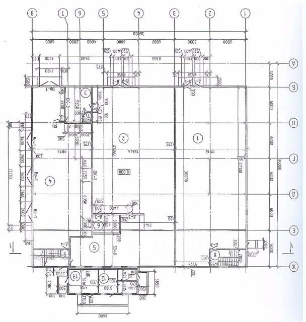 Продам здание с действующим арендатором. Проспект Находкинский 109, р-н южный, 1 348 кв.м. План помещения