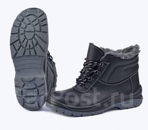 "Ботинки ""Профит"" на искуственном меху с металическим носком"