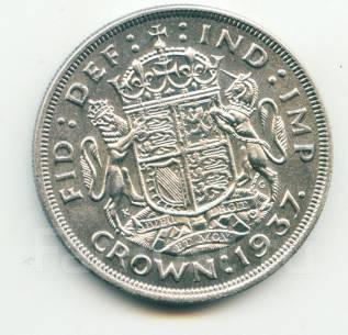 "Англия крона 1937 ""Коронация Georg VI"" Серебро"