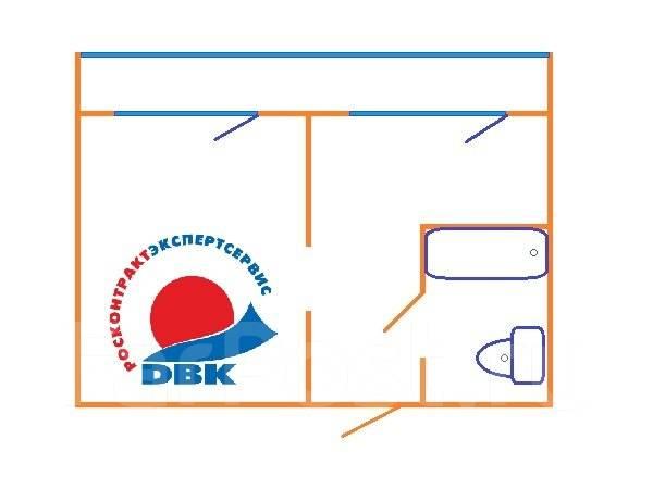 1-комнатная, проспект Красного Знамени 133/2. Третья рабочая, агентство, 30 кв.м. План квартиры