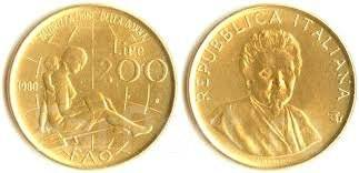 Италия 200 лир 1980 год