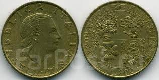 Италия 200 лир 1993 год