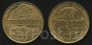 Италия 200 лир 1996 год
