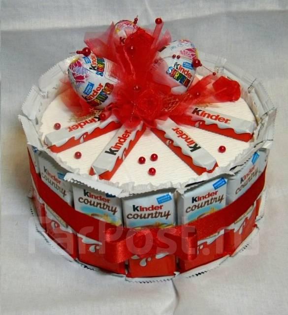 Торт из киндеров. Сладкий подарок на новый год. Под заказ
