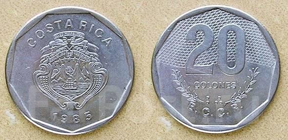 Коста-Рика 20 колонов 1983 год