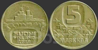 Финляндия 5 марок 1983 год