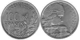 Франция 100 франков 1954 год