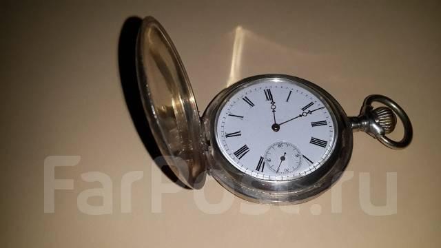 Часы карманные старинные с шатленом. Серебро. Оригинал