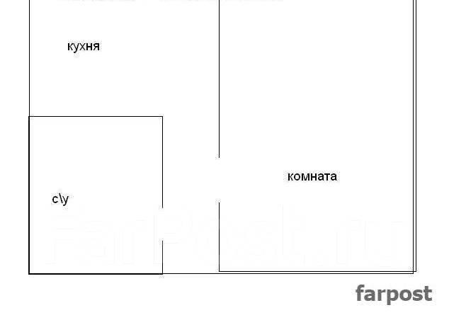 1-комнатная, улица Нерчинская 23. Центр, частное лицо, 32 кв.м. План квартиры