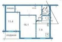 2-комнатная, улица Харьковская 3. Чуркин, агентство, 50 кв.м. План квартиры
