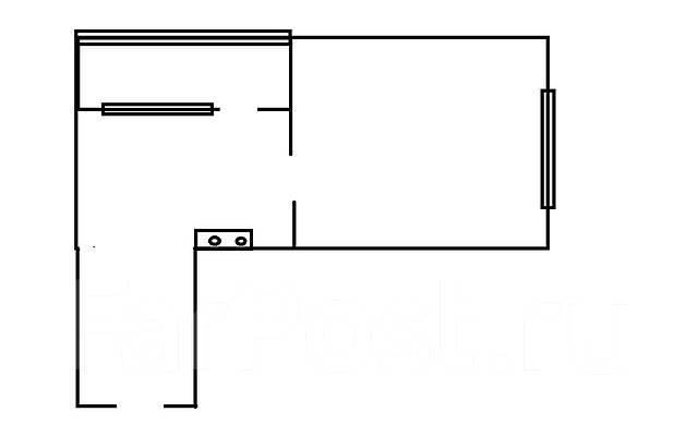 Комната, улица Борисенко 16. Борисенко, агентство, 22 кв.м. План квартиры