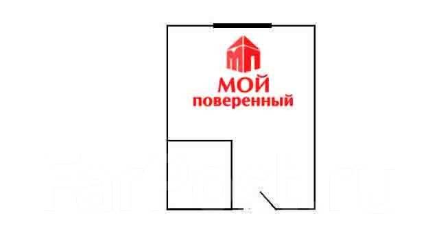 Гостинка, улица Надибаидзе 26. Чуркин, агентство, 24 кв.м. План квартиры