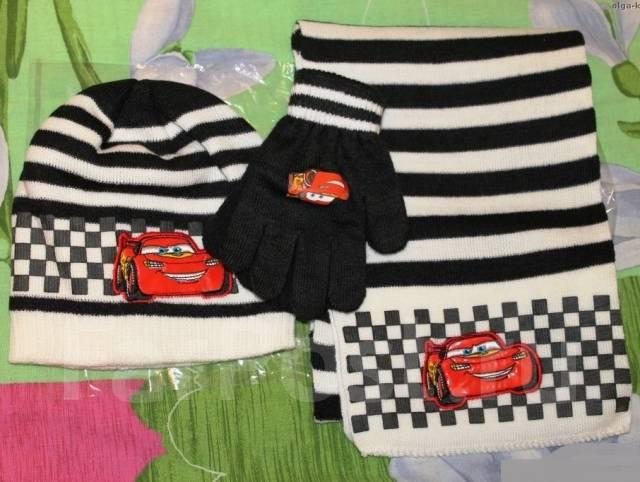 Шапка, шарф и перчатки. Рост: 110-116, 116-122, 122-128, 128-134 см