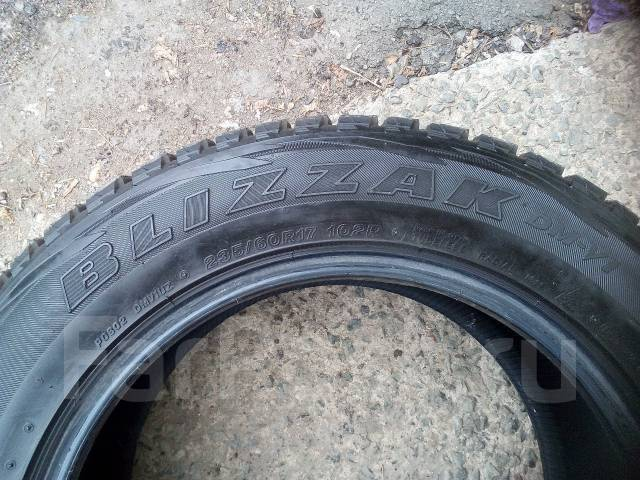 Bridgestone Blizzak DM-V1. Зимние, без шипов, 2011 год, износ: 50%, 2 шт