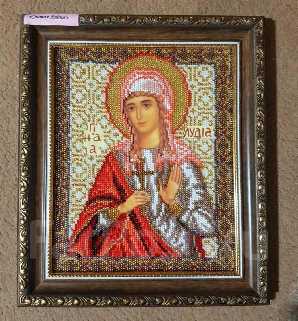 Икона вышитая бисером Святая мученица Лидия