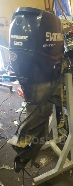 Evinrude. 90,00л.с., 2х тактный, бензин, нога L (508 мм), Год: 2012 год