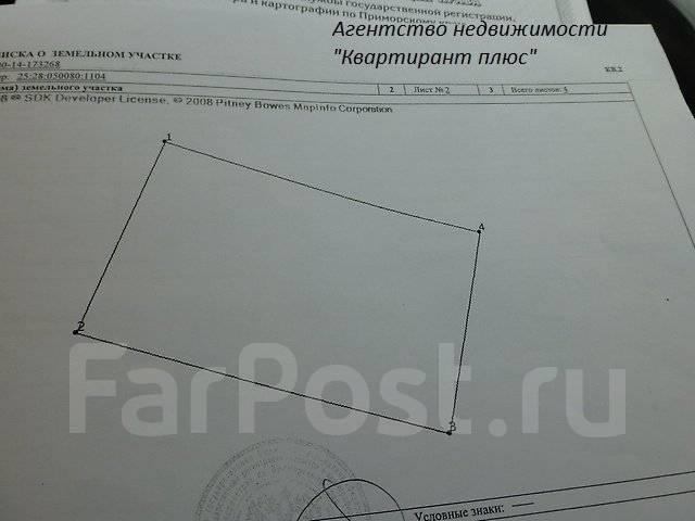 Участок в районе Синей сопки 10 соток во Владивостоке. 1 000 кв.м., собственность, от агентства недвижимости (посредник). Схема участка