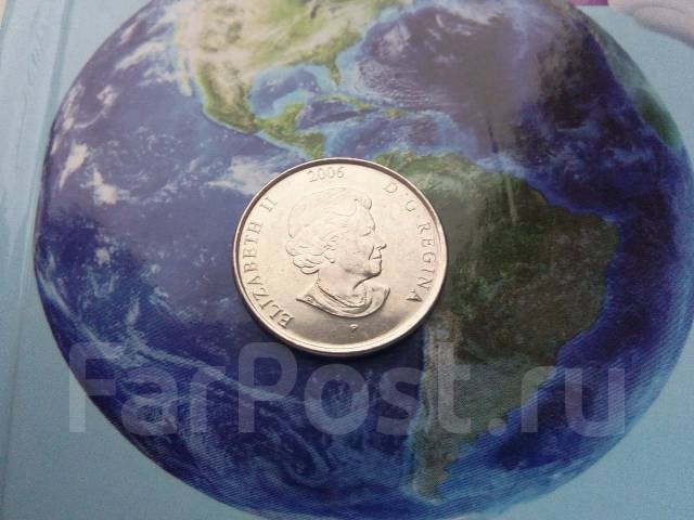 Канада. 25 центов 2006 г. Борьба со Спидом