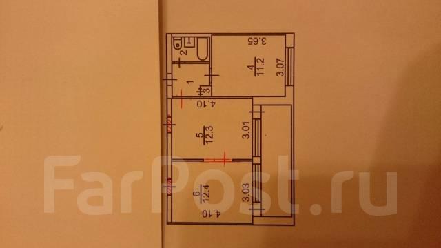 2-комнатная, улица Бабушкина 4/1. Бабушкина , частное лицо, 42 кв.м. План квартиры