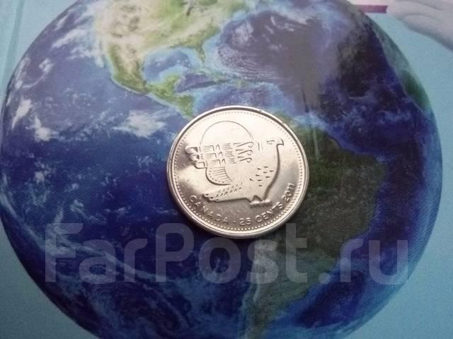 Канада. 25 центов 2011 г. Орел