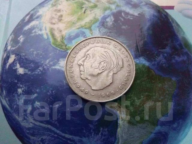 Германия. 2 марки 1970 F Теодор Хейсс