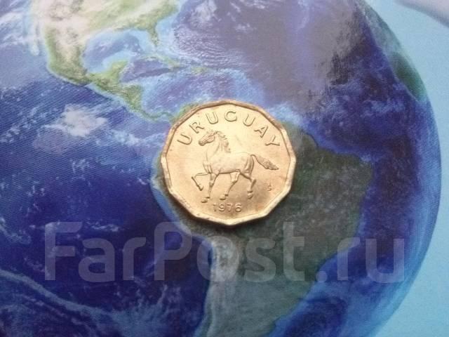 Уругвай 10 сентесимо 1976 конь фауна
