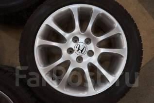 215/55R18 Зимние шины с литыми дисками Honda. Без пробега по РФ. 7.0x18 5x114.30 ET50 ЦО 64,1мм.